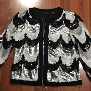 Black white and silver sequins jackets